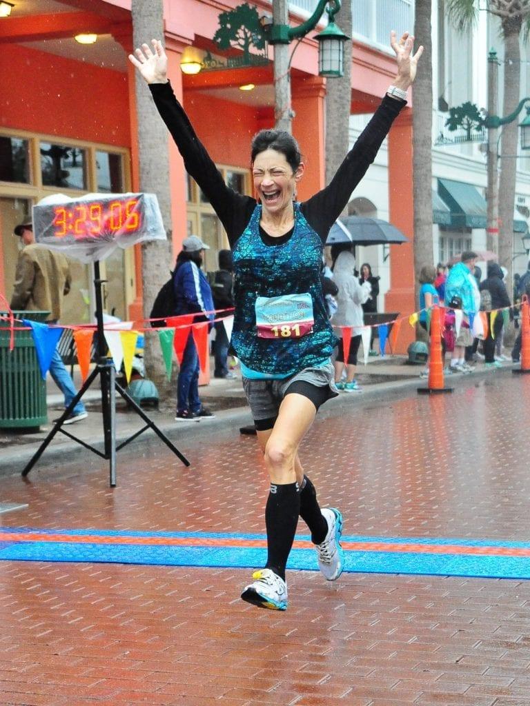Marathon Finish Line Celebration