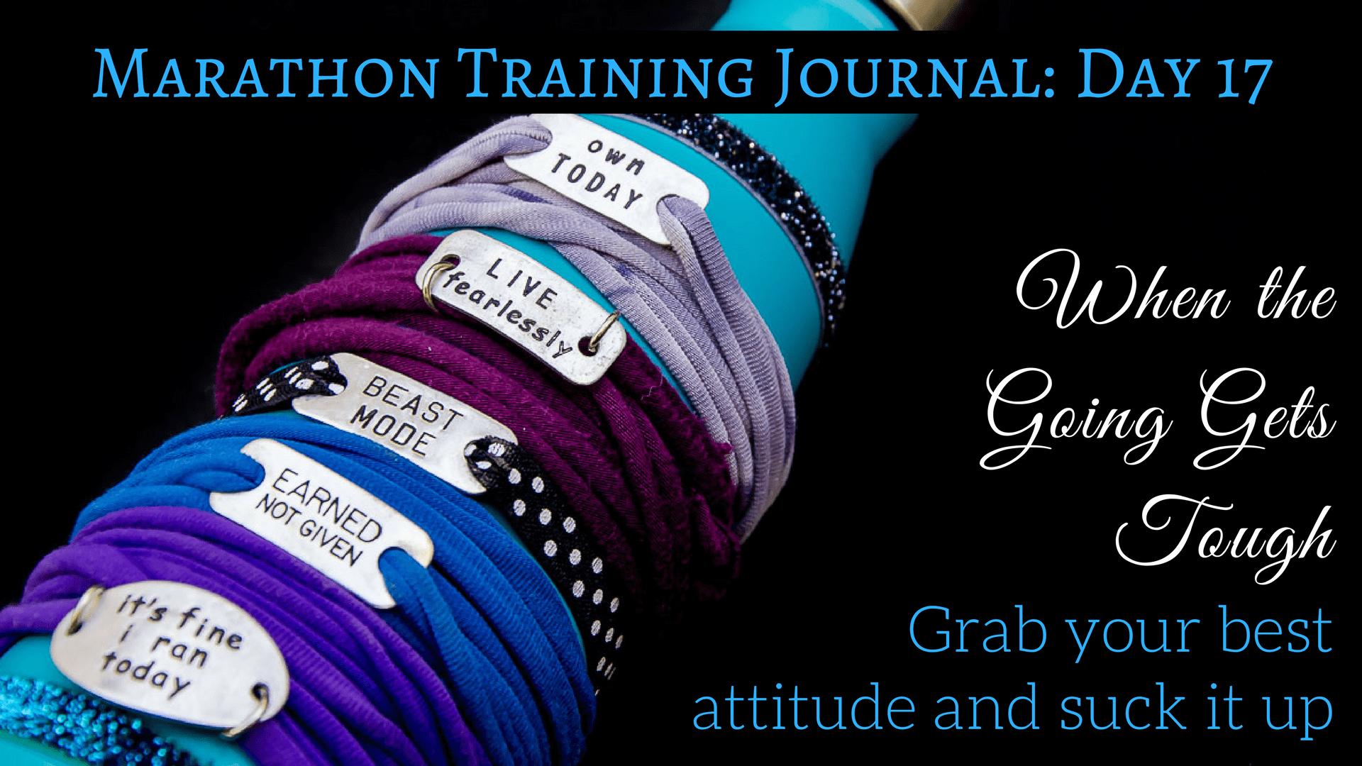 Marathon Training Journal- Day 17