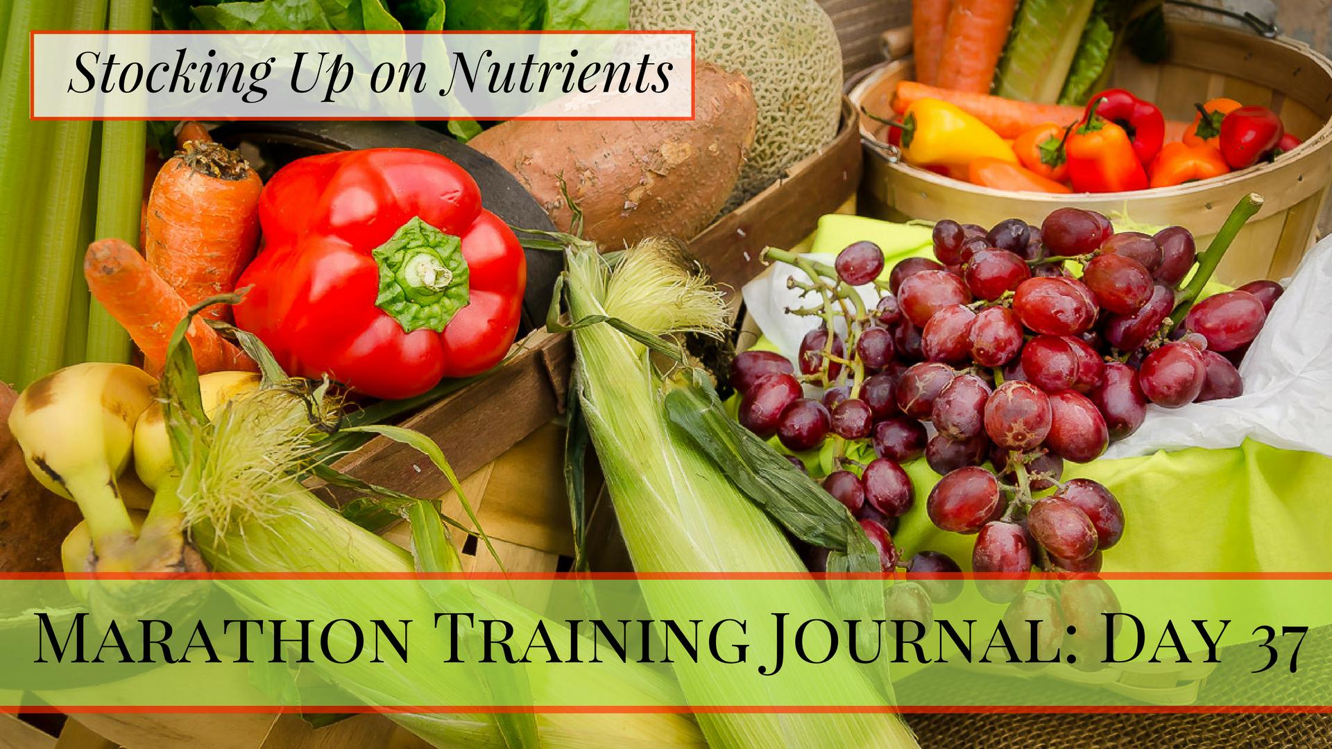 Marathon Training Journal- Day 37