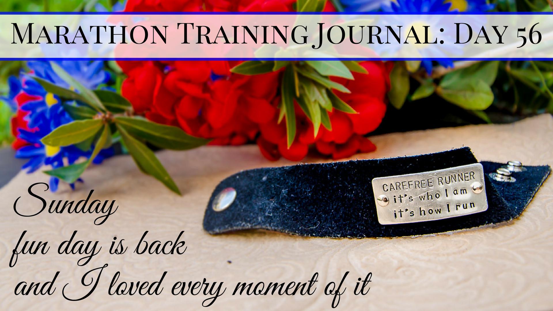 Copy of Marathon Training Journal Day 54