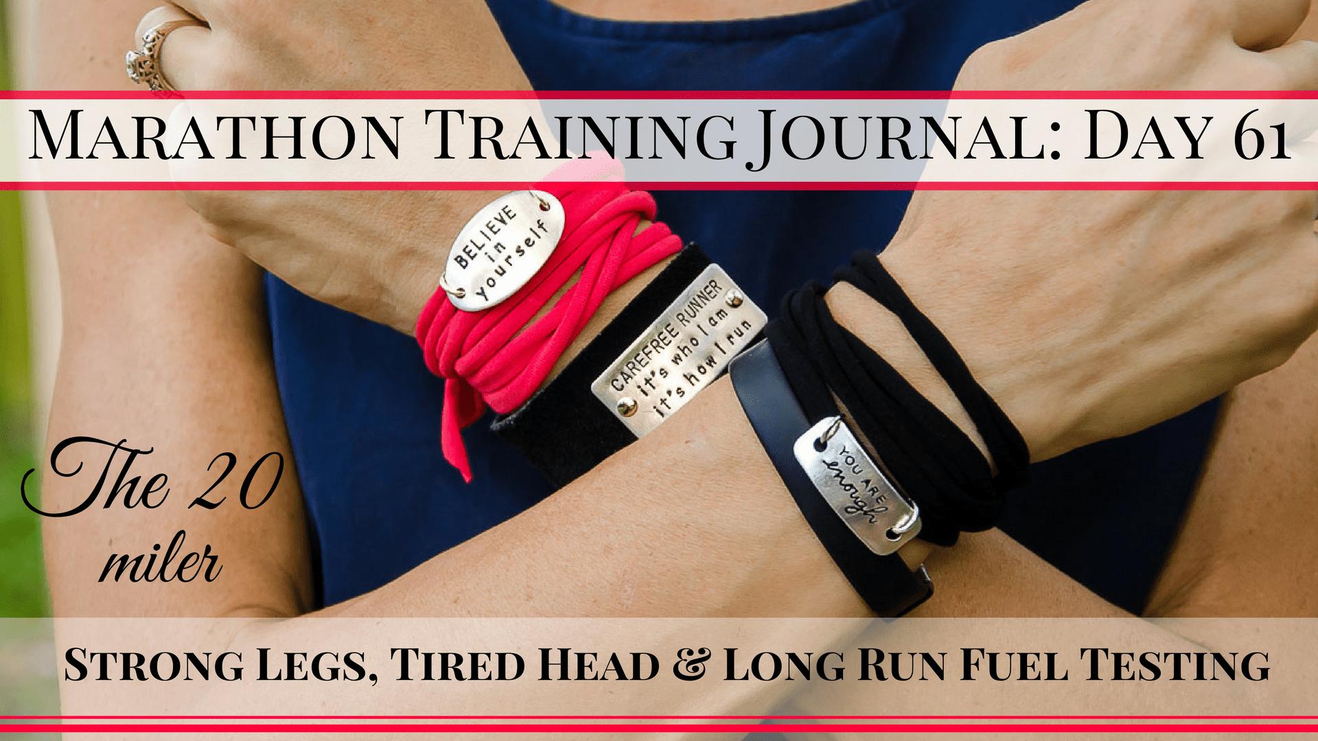 Marathon Training Journal- Day 61 (4)