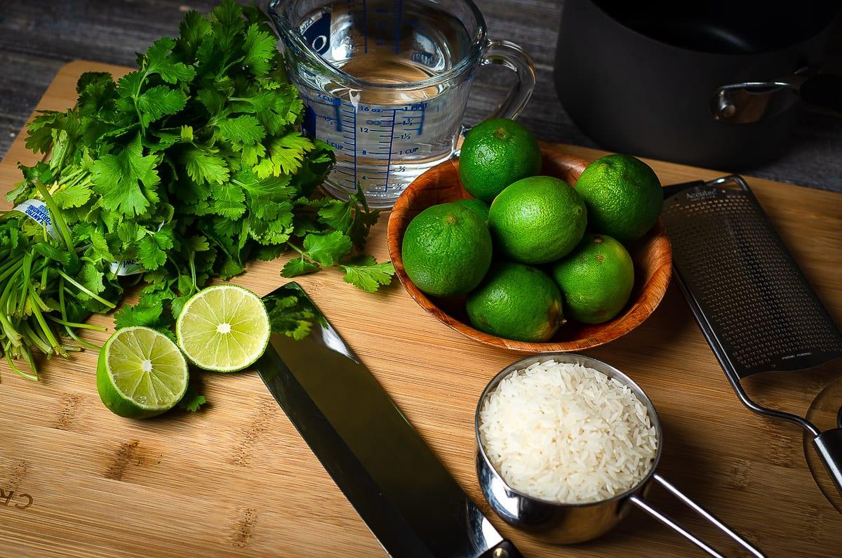 Food Prep Jasmine lime cilantro rice